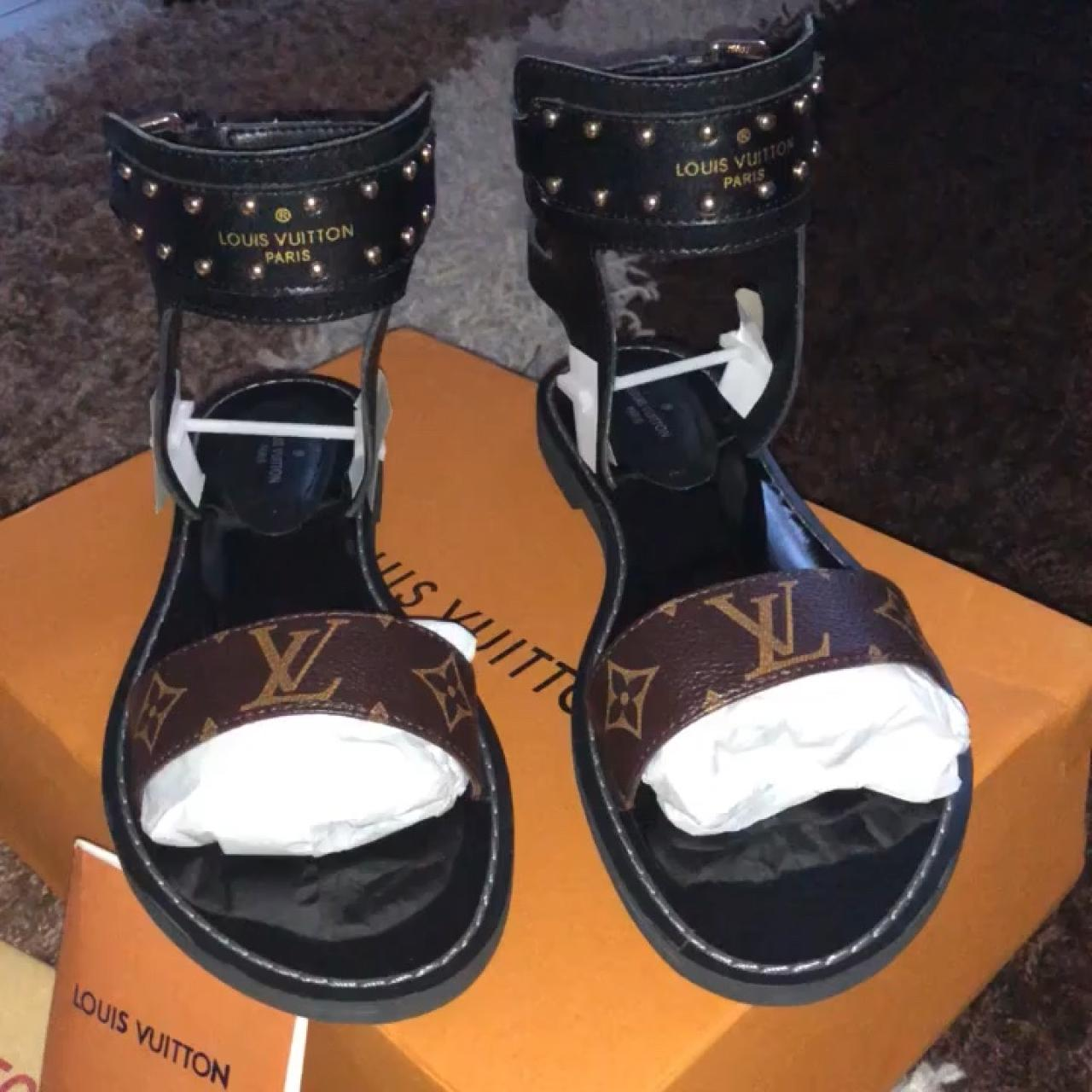942d1afa01f7 Louis Vuitton Nomad Sandal REP. They are JUST as beautiful a - Depop