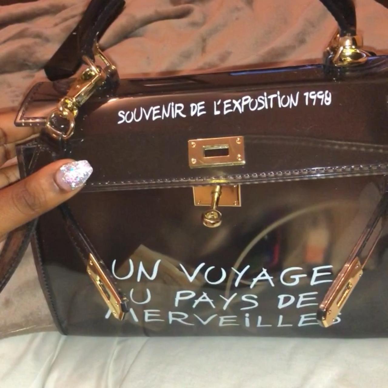 code promo ab269 6fab3 Un Voyage Au Pays Des Merveilles PVC Bag REDUCED... - Depop