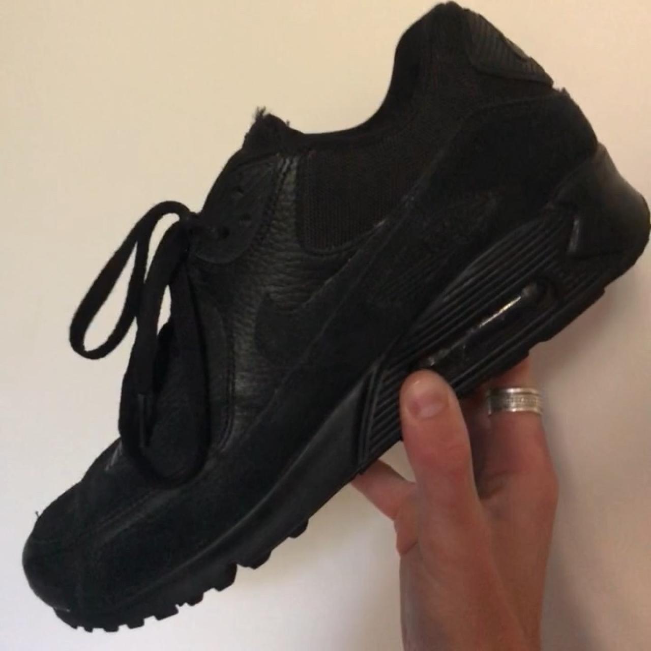 c7df2b75919 Nike air max 90 essentials black leather/ suede. 9/10 only - Depop