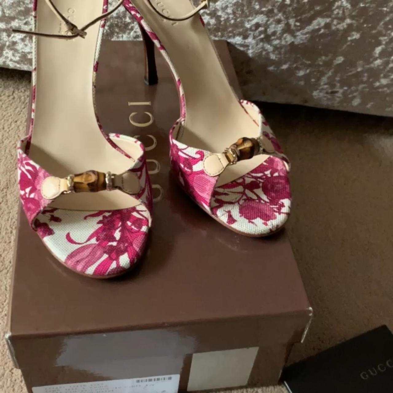 47dc103ef148 Authentic Gucci floral bamboo sandals. NEW!!! have only been - Depop