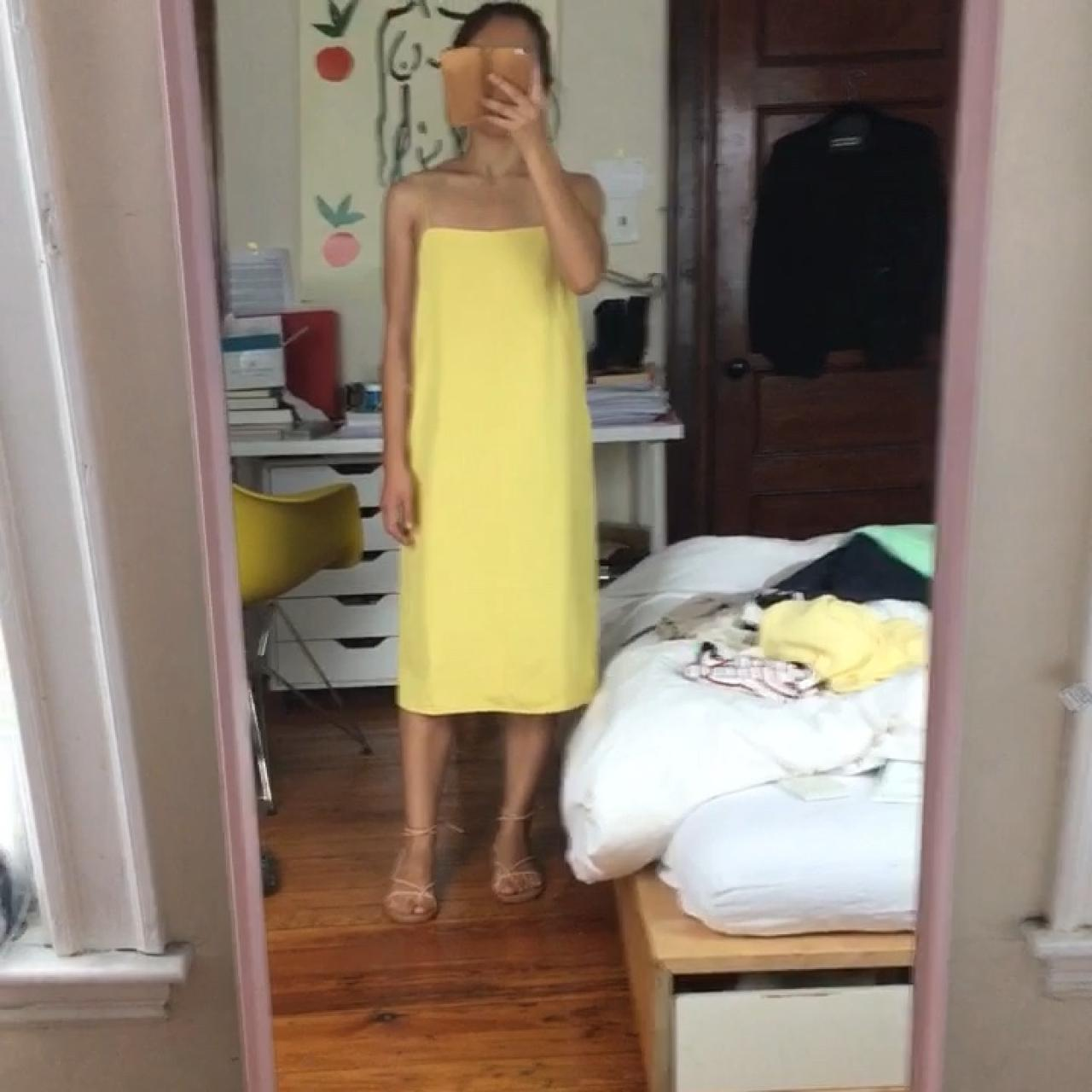 c2f493f77ed6a @pistache. 5 months ago. Somerville, United States. $88 Everlane cami slip  dress. Yellow, Japanese goweave triacetate fabric