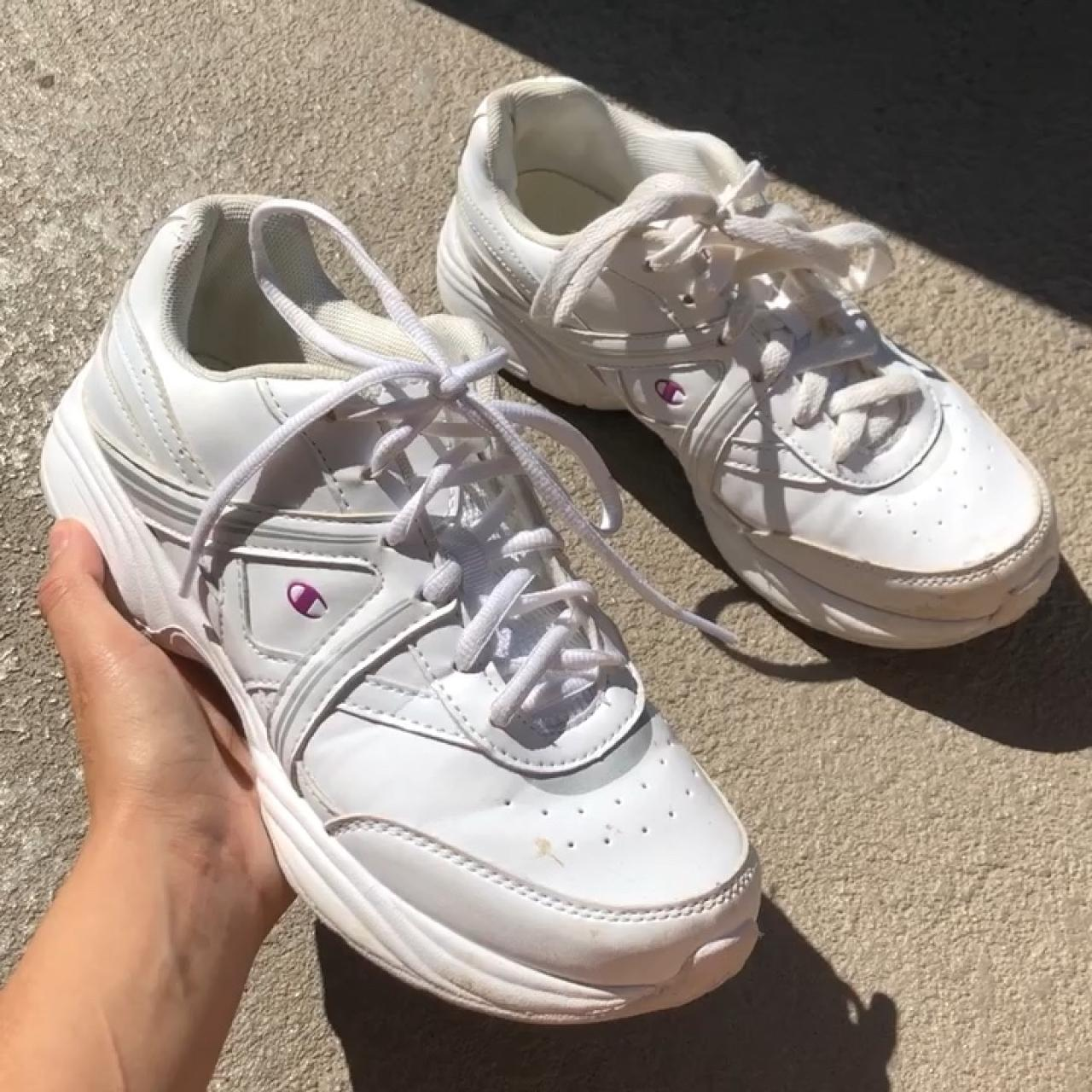 7f6a3b50426 Chunky all white sneakers by Champion. Women s 8 1 2