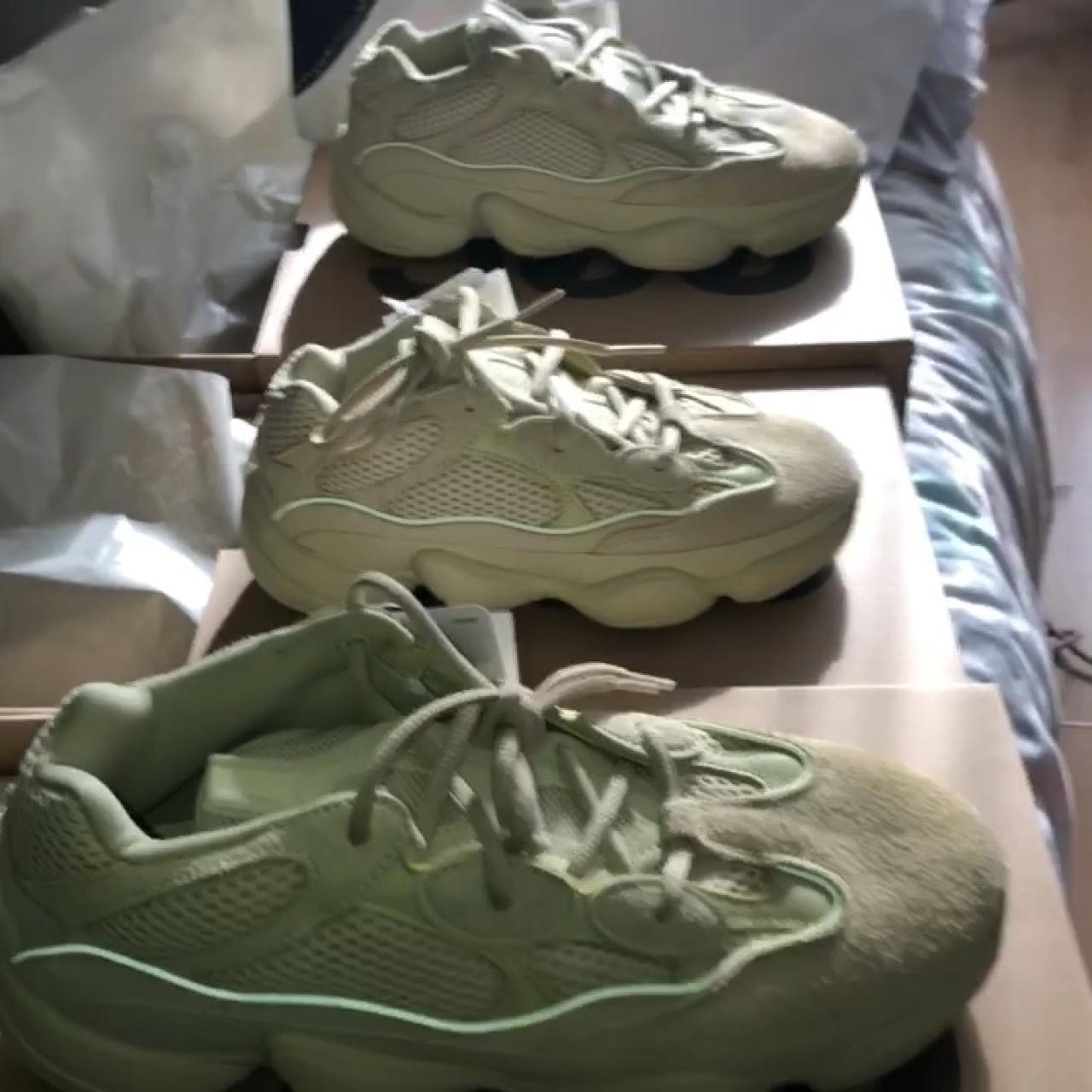 723937cb9 Adidas Yeezy 500 Super moon Yellow Available in sizes   Uk - Depop