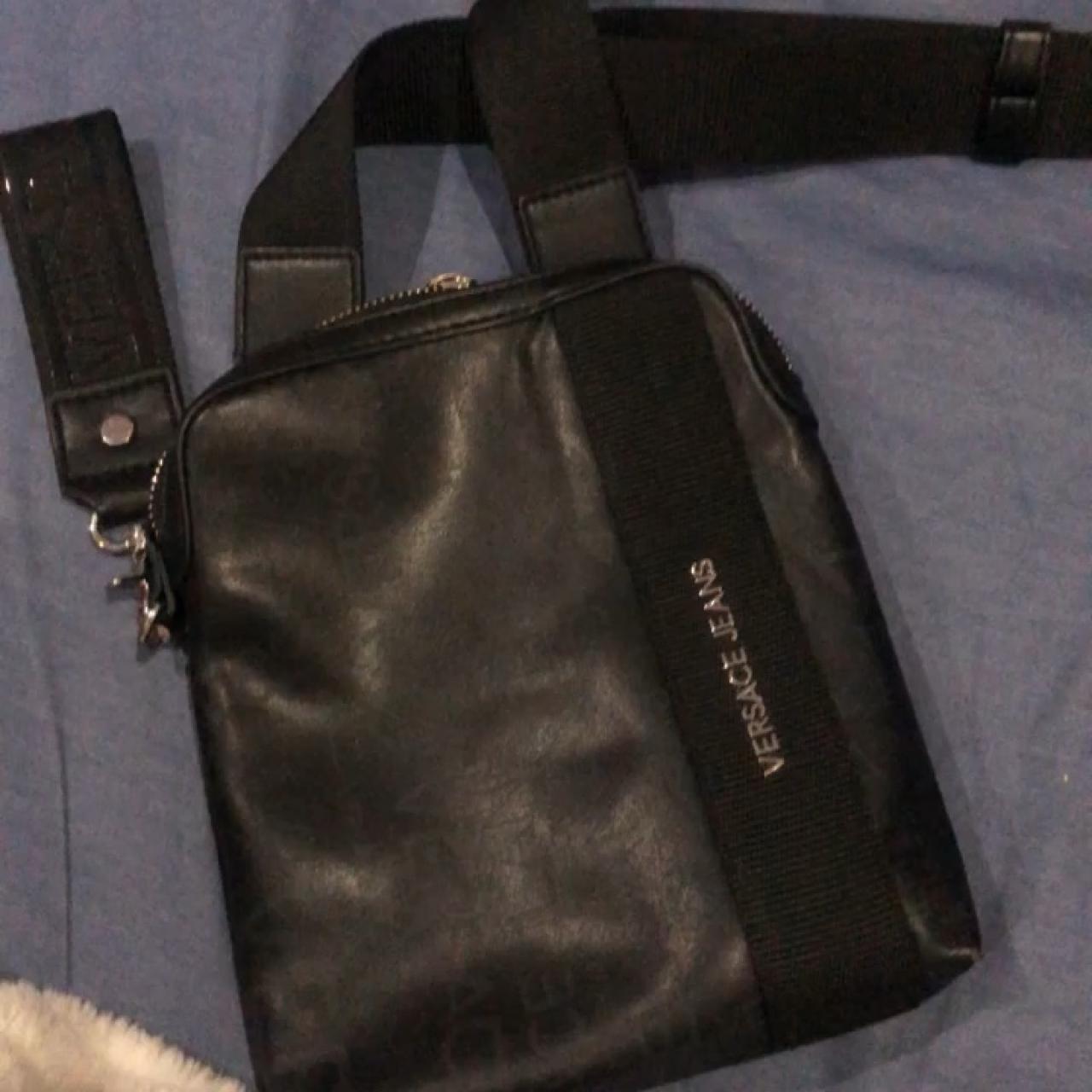 c1d1da7fe VERSACE Black leather Man bag ✨ Bought last summer for and ✨ - Depop