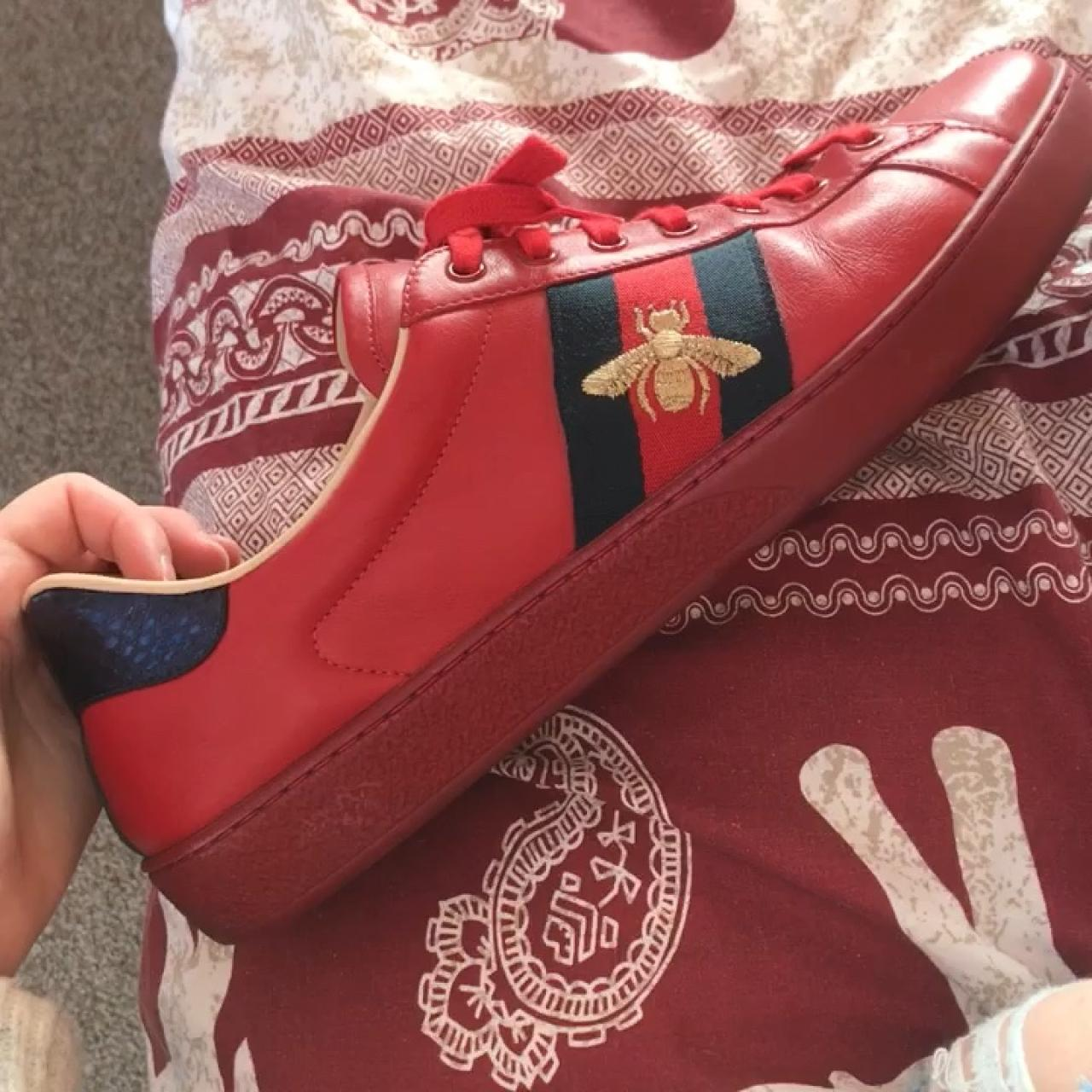 278ecdfb5 @laurynr. 6 months ago. United Kingdom. Ace red Gucci trainers in size 11  ...