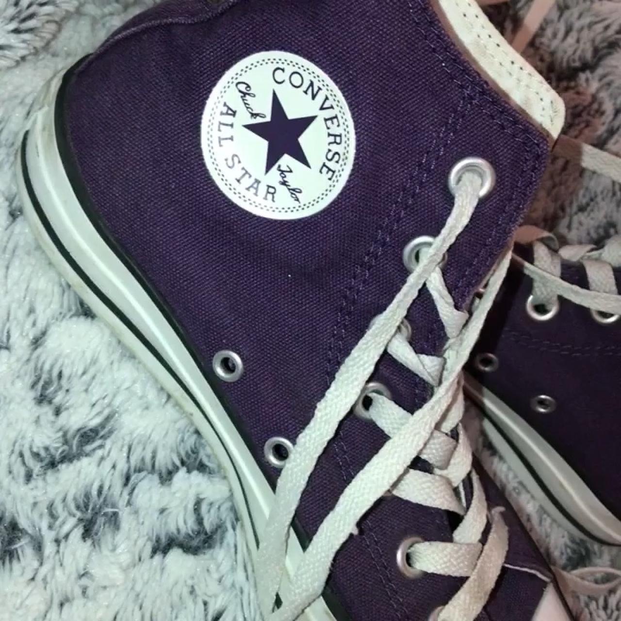 6cabd2261f06 Dark purple High top converse all stars