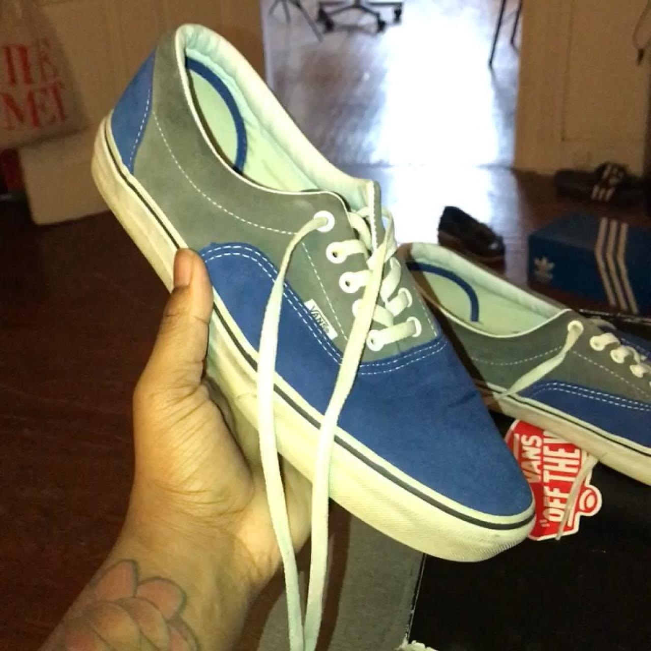 c6a7f0e2ae0c47 Vans Era 11.5 2- Tone suede SS15 True Blue   Pewter - Depop