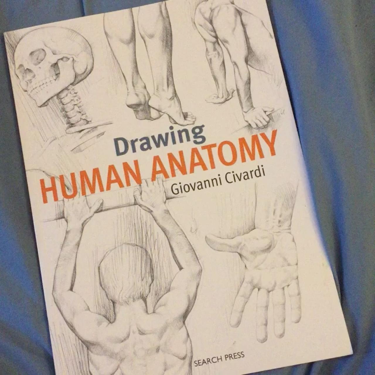 Drawing Human Anatomy Soft Cover Book By Giovanni Civardi Depop