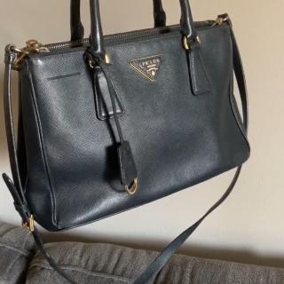 6347ebee1ba8 🐅 Prada Nappa Stud leather calfskin bag. (Only) wallet is - Depop