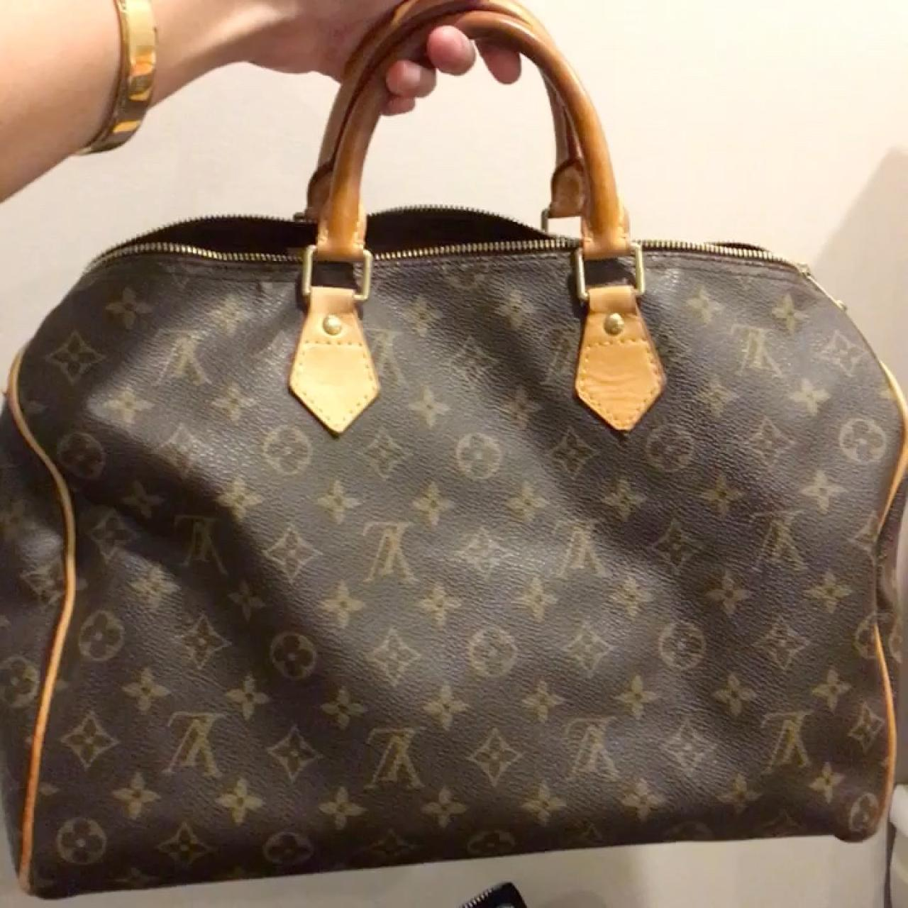 9b3d6194a825 Authentic used Louis Vuitton monogram Speedy 35. Bought in - Depop