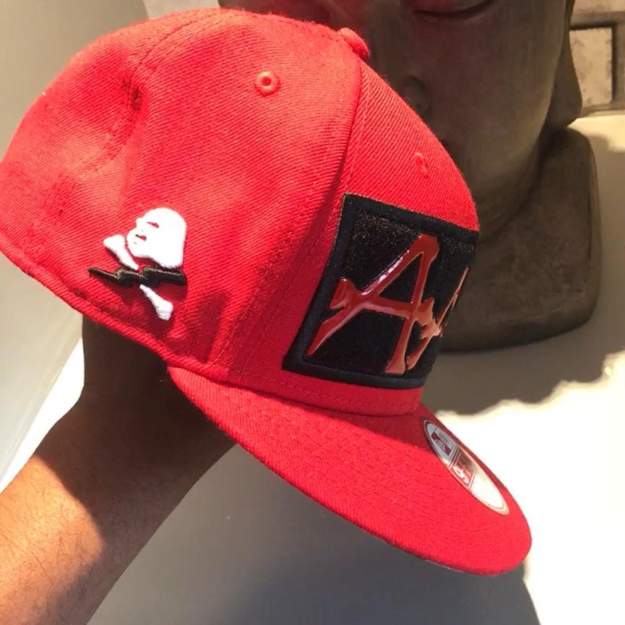AAPE by BAPE new era 9fifty SnapBack Rare hat All stickers - Depop 2d37e4410578