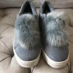 4f2574547804 Sam Edelman Womens Shoes Levine Sneakers Poseidon Blue Shiny - Depop