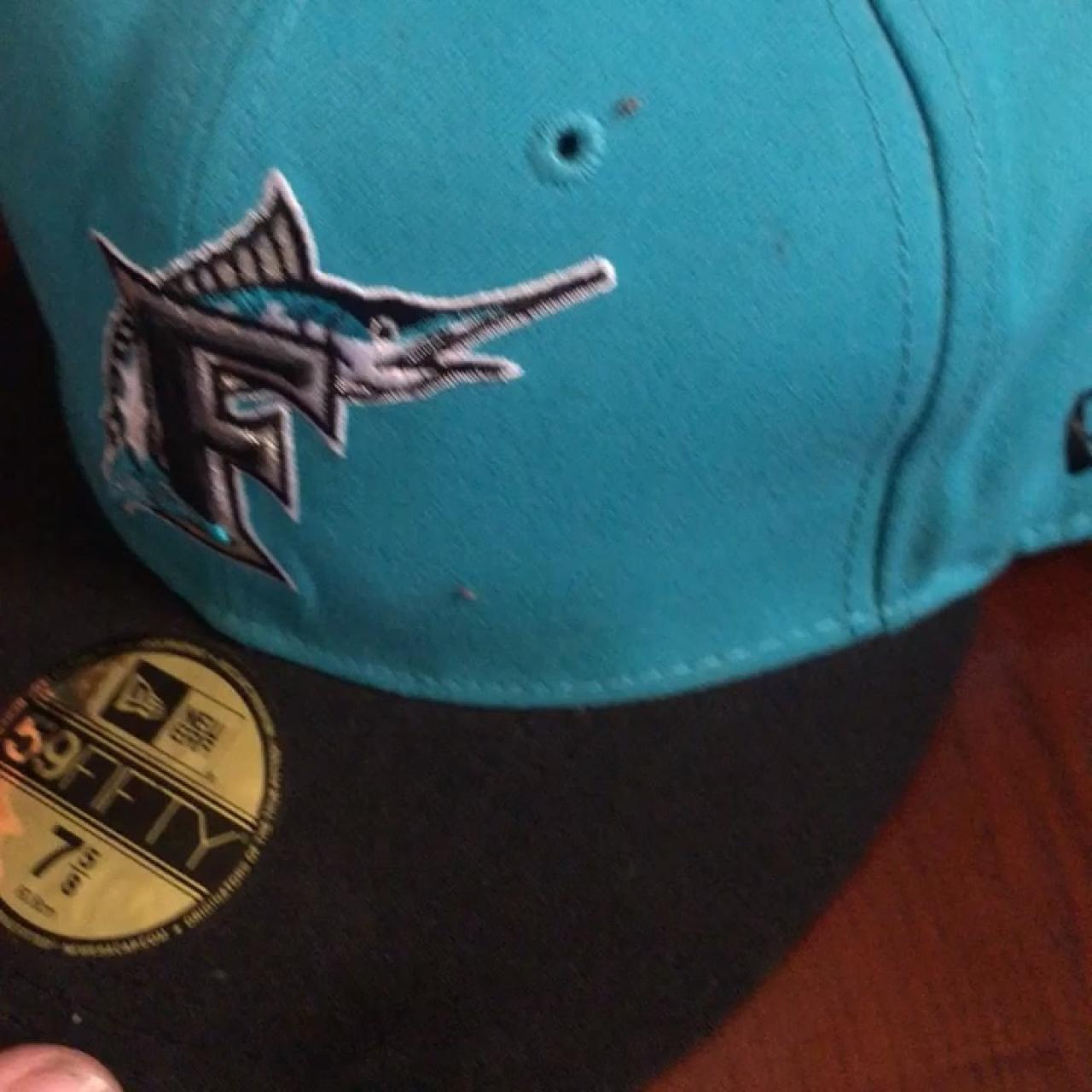 7fa86adab69438 Florida Marlins 59 fifty fitted hat size 7 5/8 #Vlone - Depop