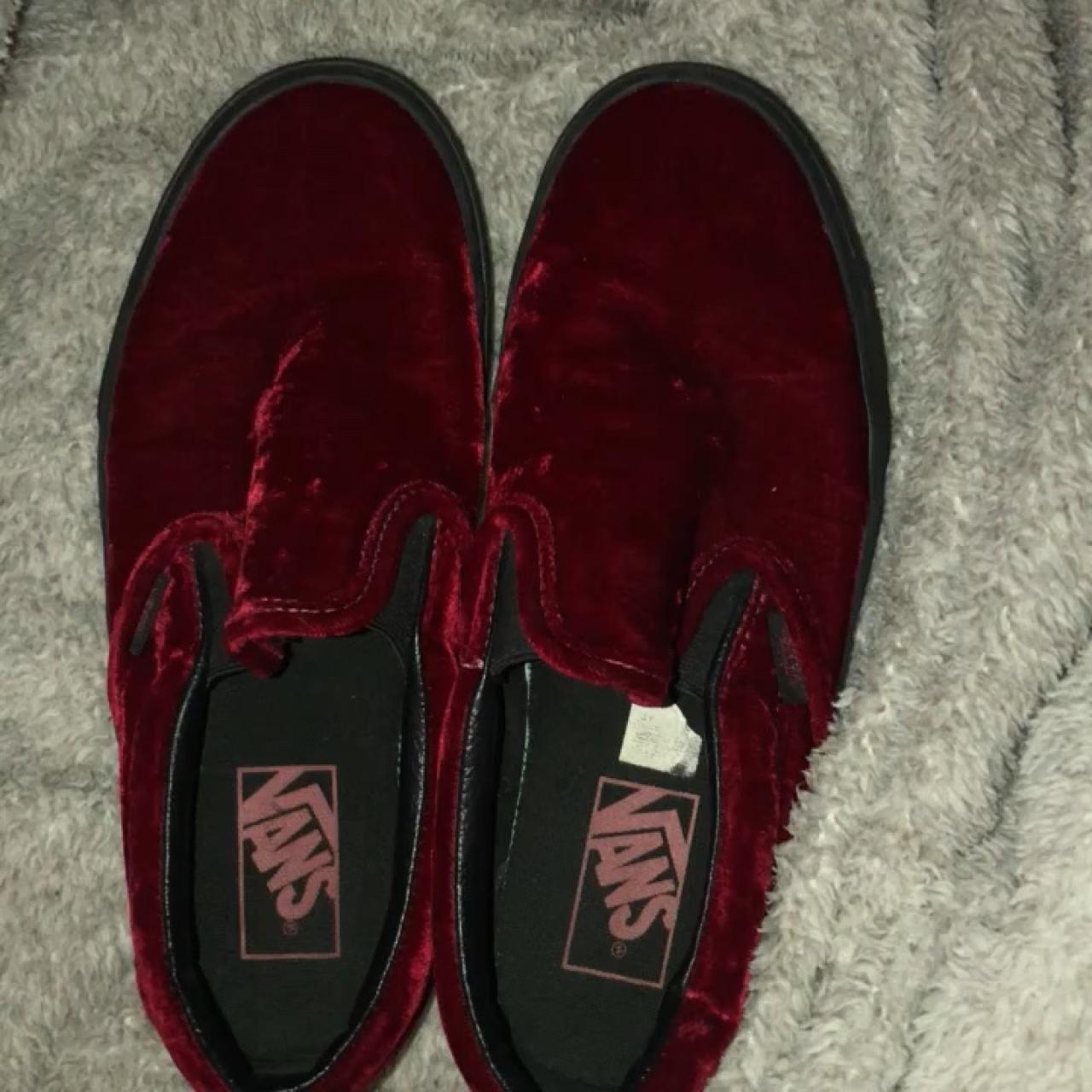 db246878c92 Like brand new! Red velvet vans