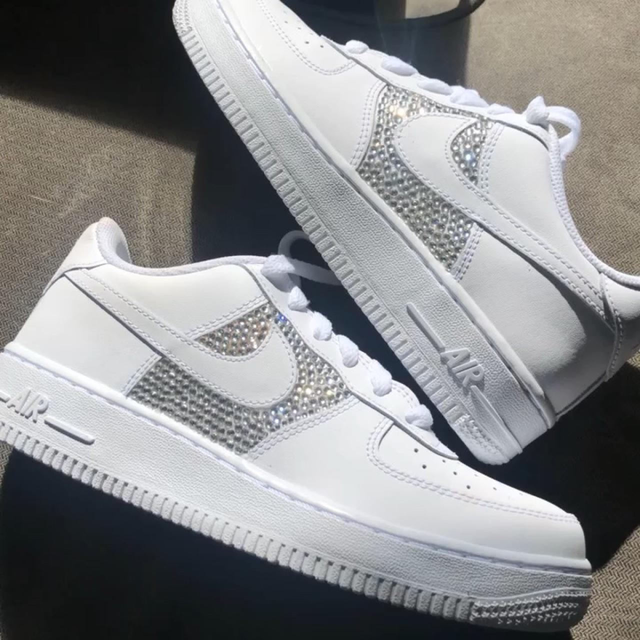 Nike Air Force 1 Rhinestoned Custom And Depop