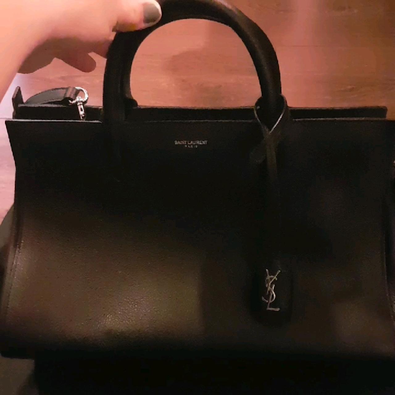 1979cd8310 SAINT LAURENT handbag. EXCELLENT condition. BLACK