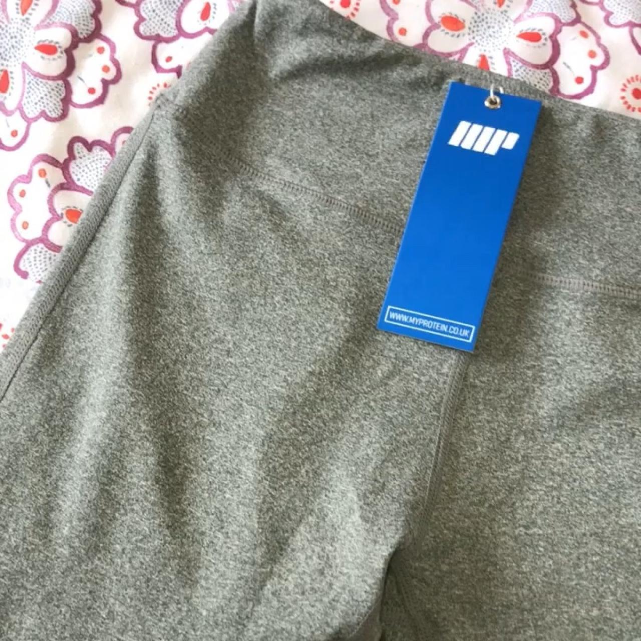 265cd31ce8f211 MYPROTEIN heartbeat mesh full length leggings in grey. High - Depop