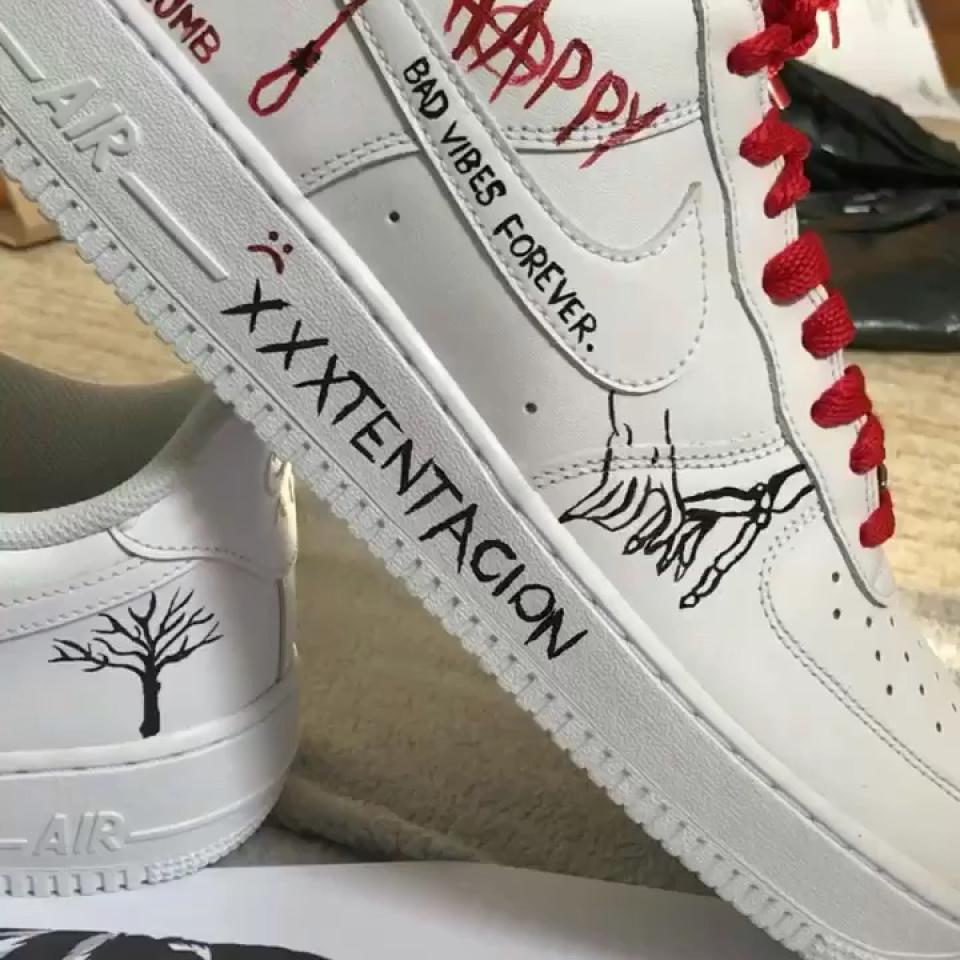 Custom XXXTENTACION Air Force 1s Doesn't have to be... - Depop