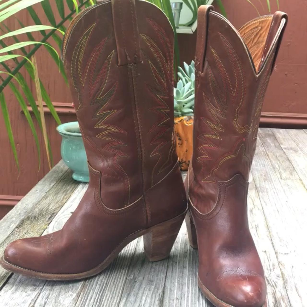 0d26944251f Vintage 1970's FRYE western boots. Made in the USA,... - Depop
