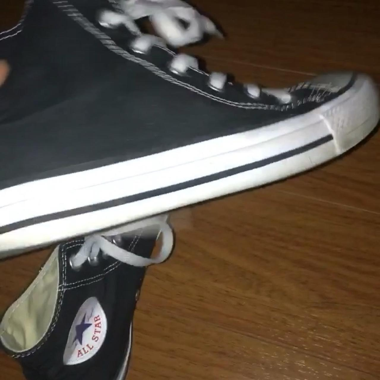 Chuck Taylor s all star converse High tops high top Black in - Depop be45336ed