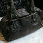 02395398f4c Chloe 30s style leather weekender bag Gorgeous well worn a - Depop