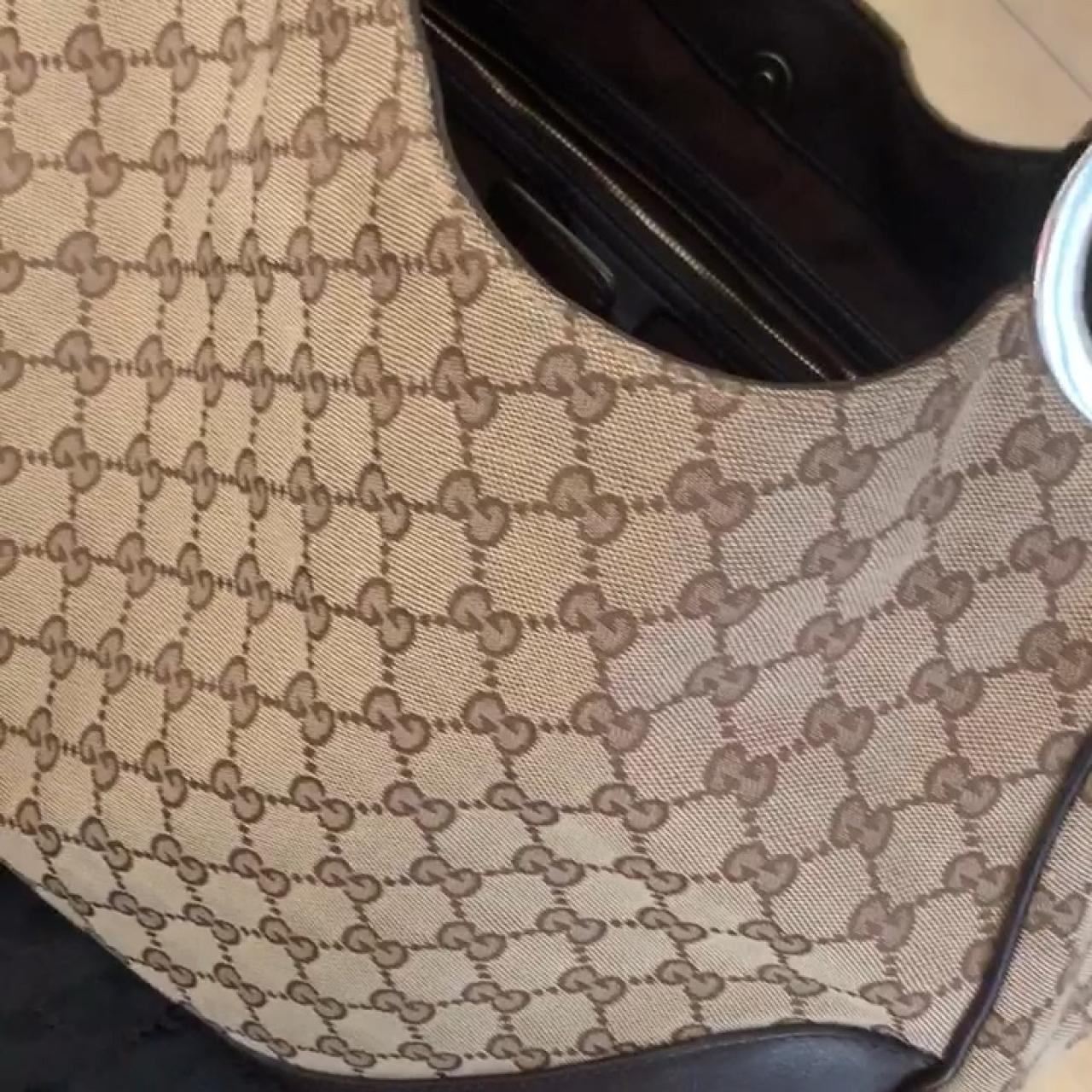9d920c6d02b Gucci hobo mongram bag 100% Authentic Slight wear in the and - Depop