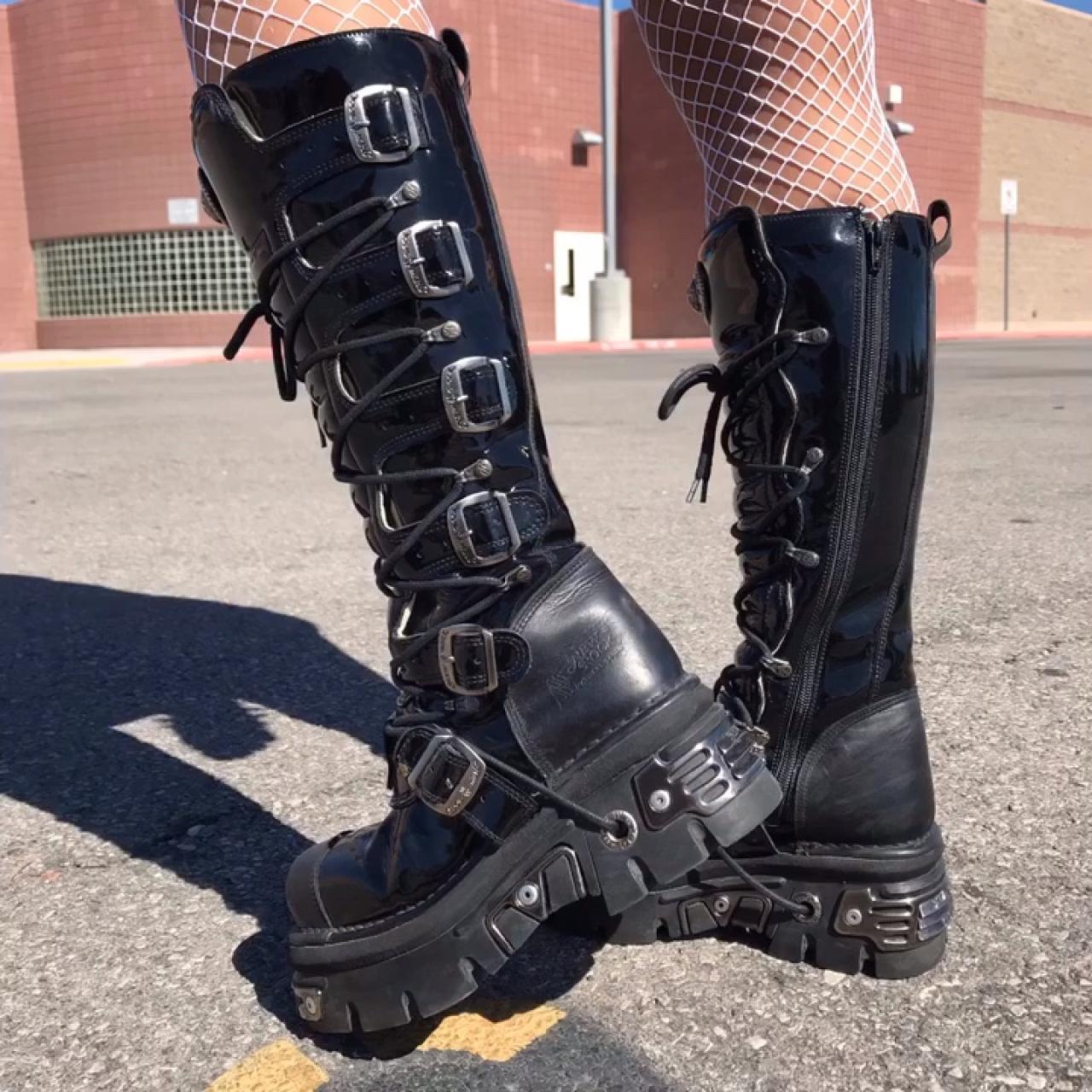 New Rock MATRIX Knee High Goth Boots