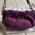 Prada purple clutch. Perfect condition. Depop