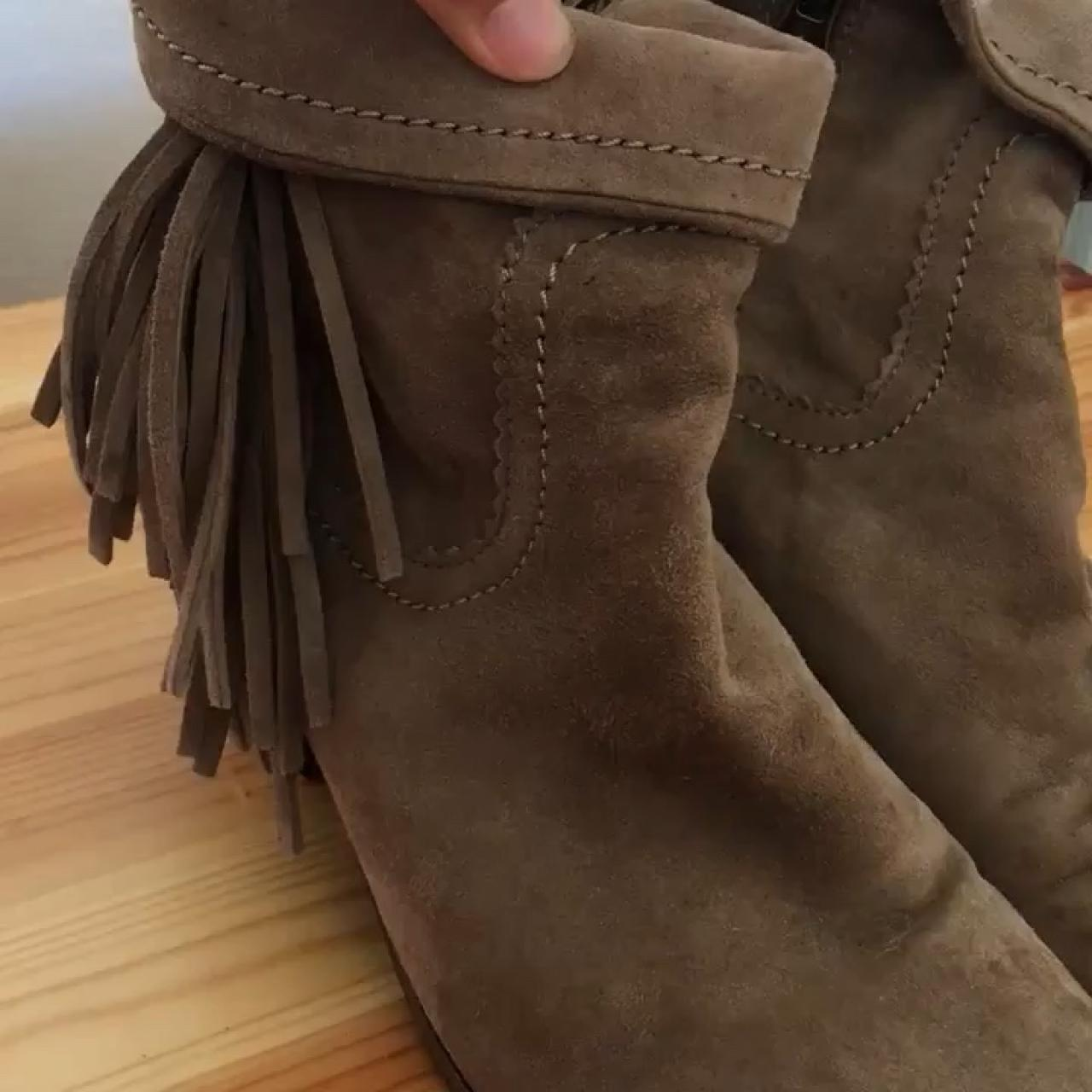 d25512dcc Sam Edelman fringe ankle booties. In good condition. - Depop