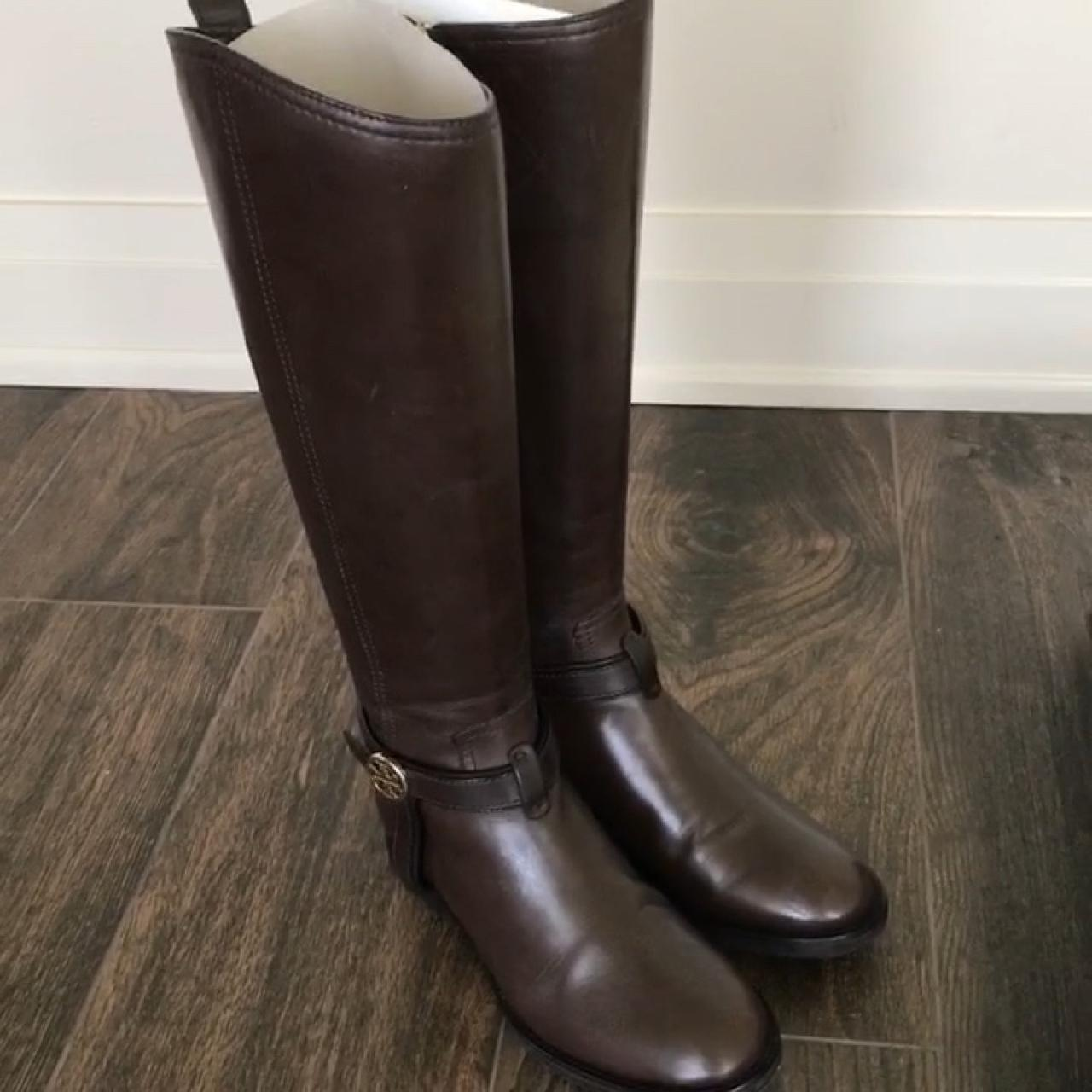 12a5b7f2d Tory Burch tall leather boots