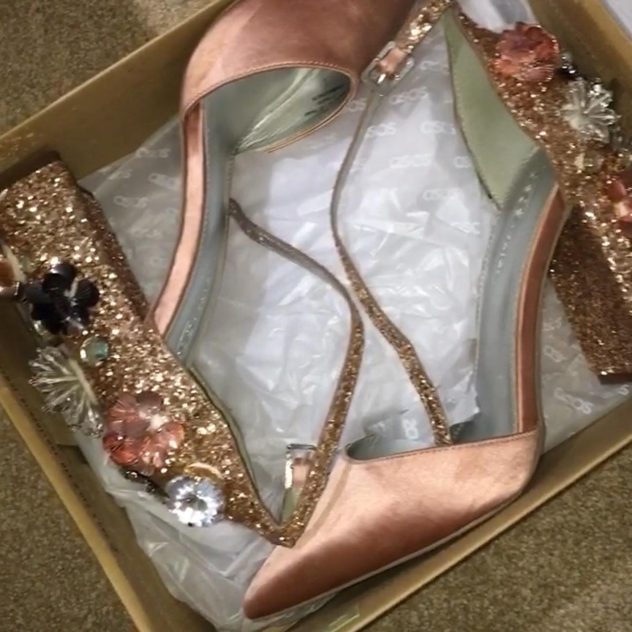 64cf44dac86e ASOS design passionate embellished high heels Comfortable in - Depop
