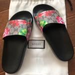 4b4b0b0f616c Gucci slides boot bottom. Size 5-6 minor scratches. - Depop