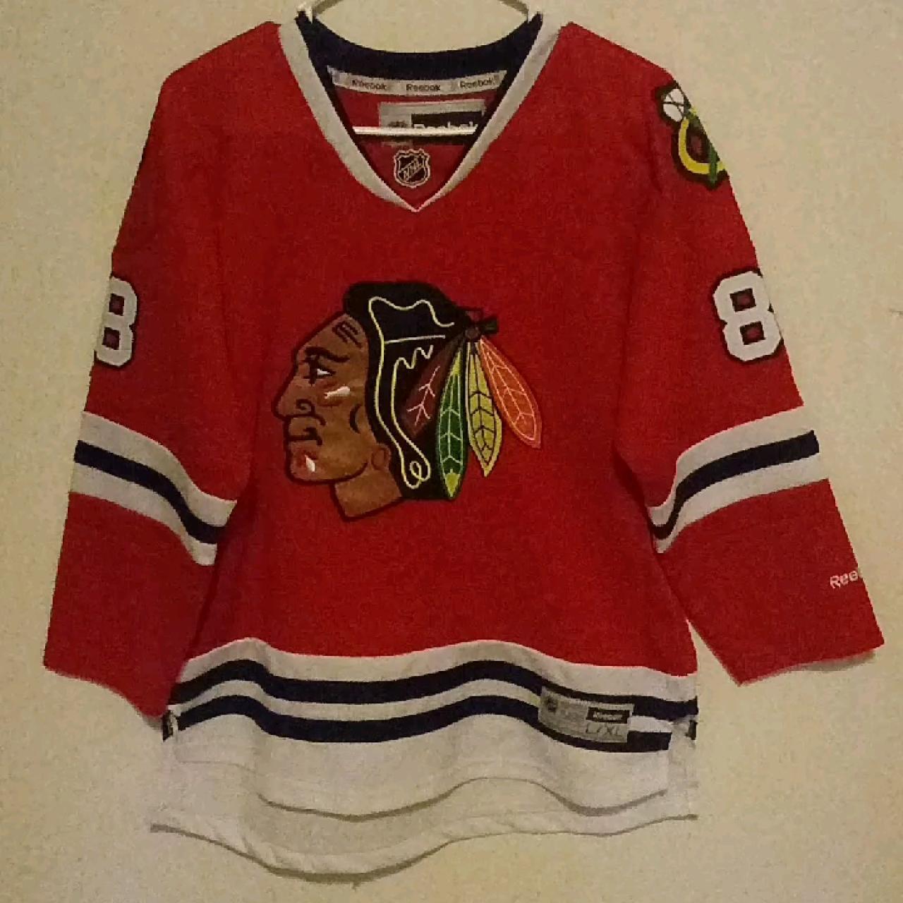 Blackhawk hockey jersey Reebok  Throwback  hypebeast Youth a - Depop 1fb4fd7e0