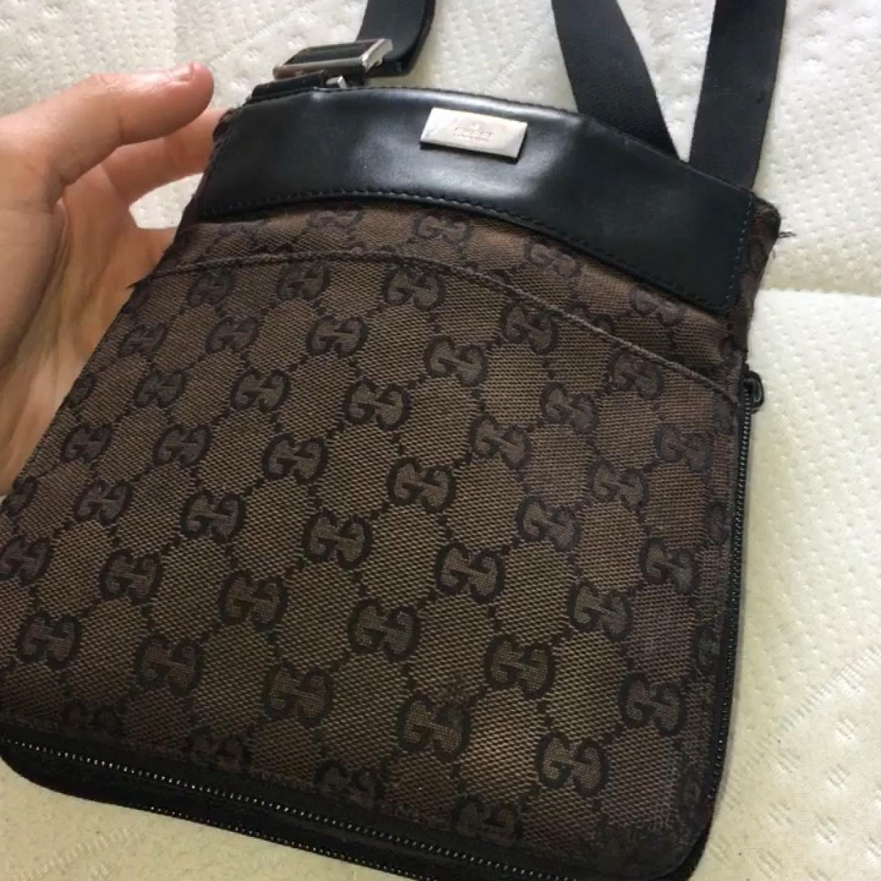 4afc198fda Dark brown Gucci Monogram messenger bag