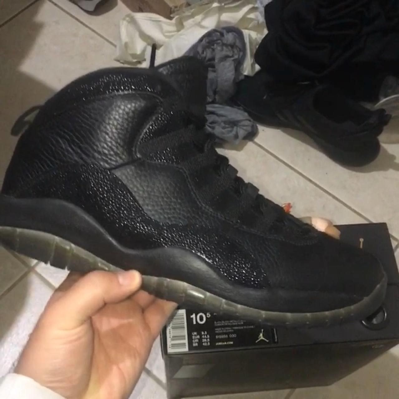a5b0bf252b9 ITEM  Air Jordan Retro 10 x Drake OVO Sneakers STYLE CODE  - Depop