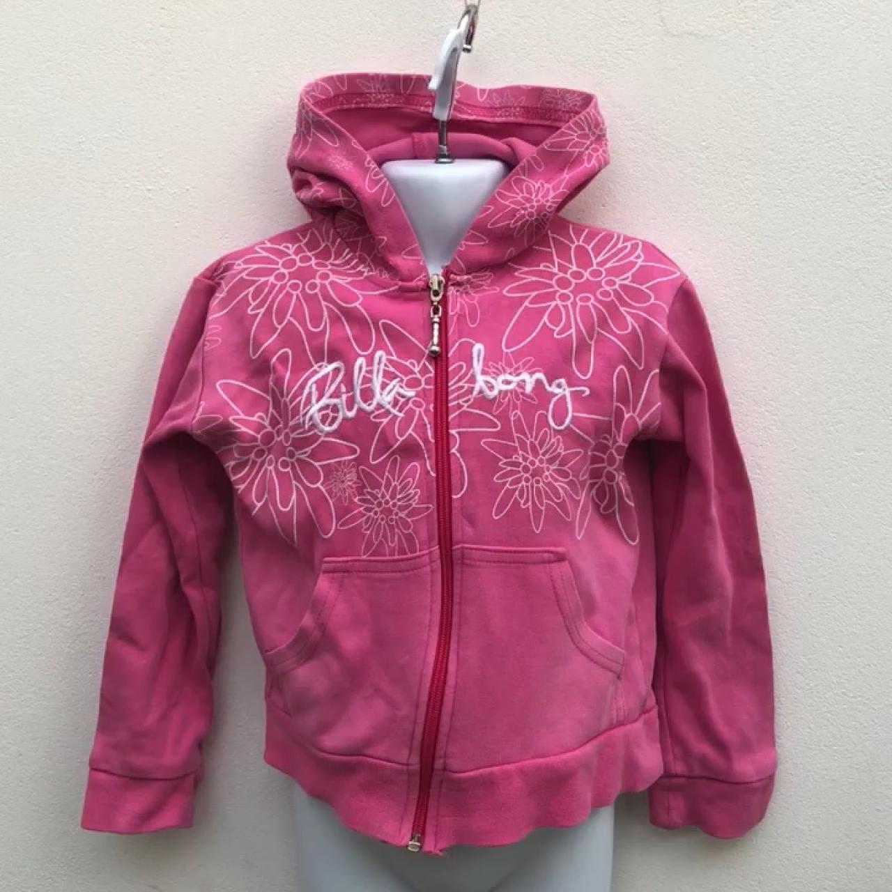 773da9663 🎀💖🎀 Lush BILLABONG girls pink flowery hoodie   hooded top - Depop