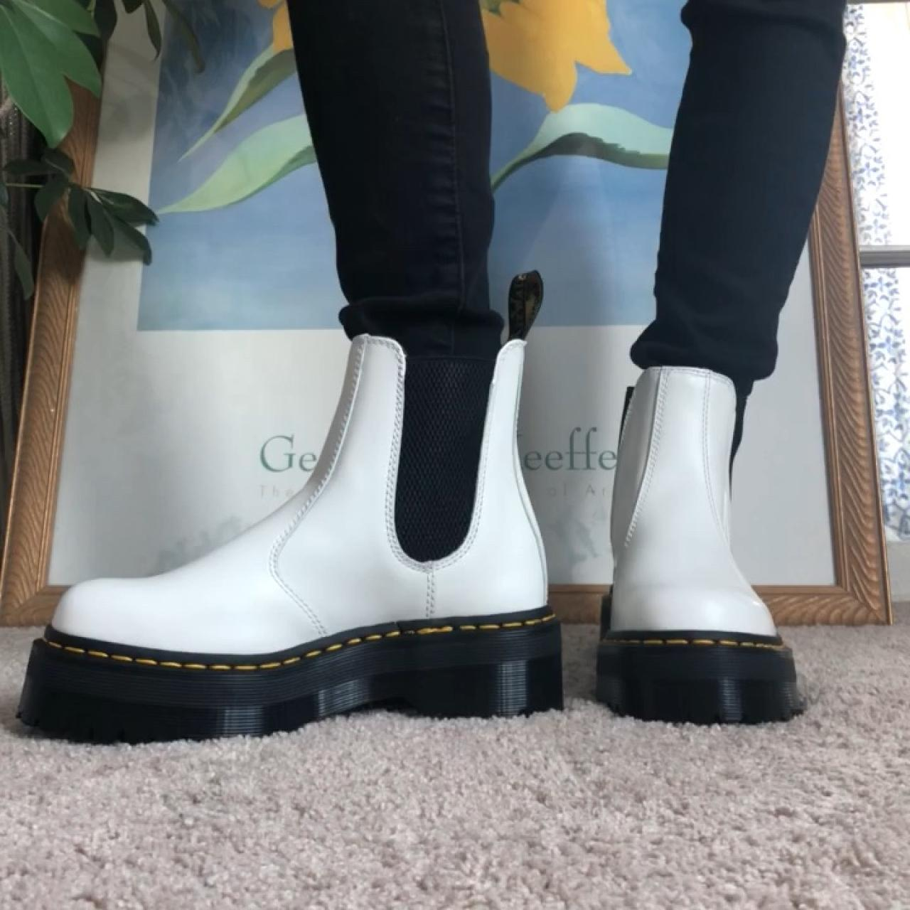 Dr. Martens 2976 Quad Smooth in White. Women's US Depop