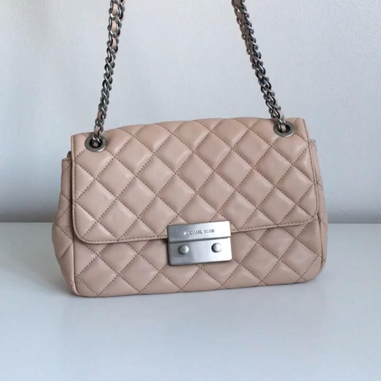 61bf55619055 Michael Kors Sloan quilted bag in blush. Silver hardware. of - Depop