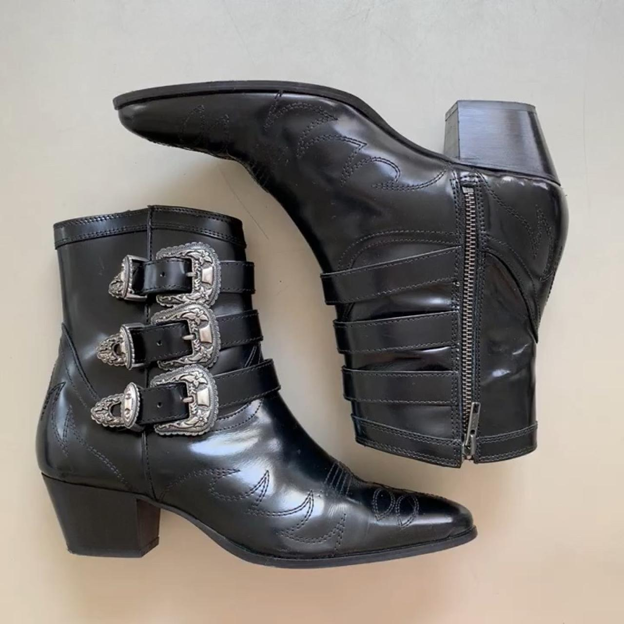 The Kooples Black Leather Cowboy boots