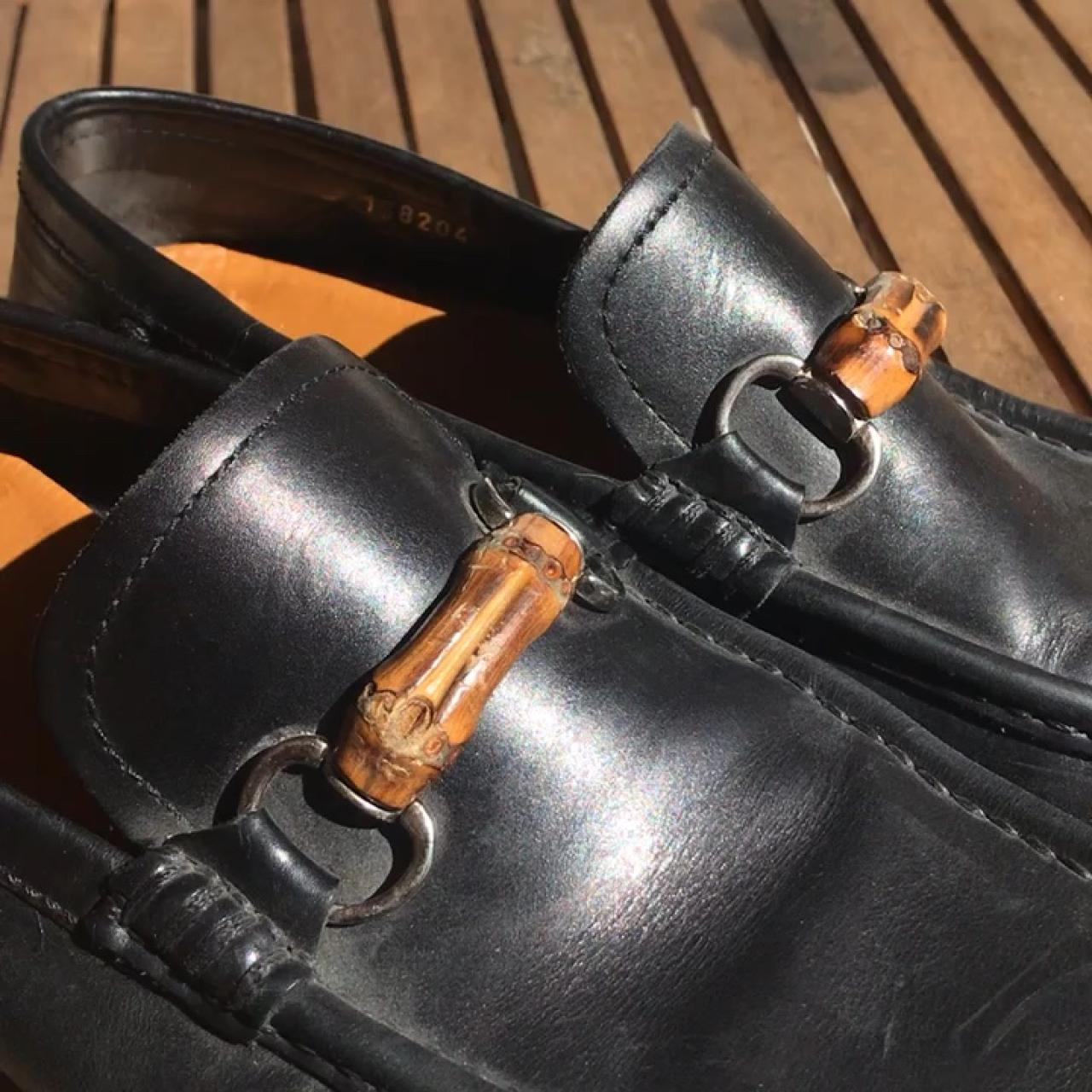 ee1f2d57e65 Authentic vintage preloved black Gucci loafers. Bamboo and   - Depop