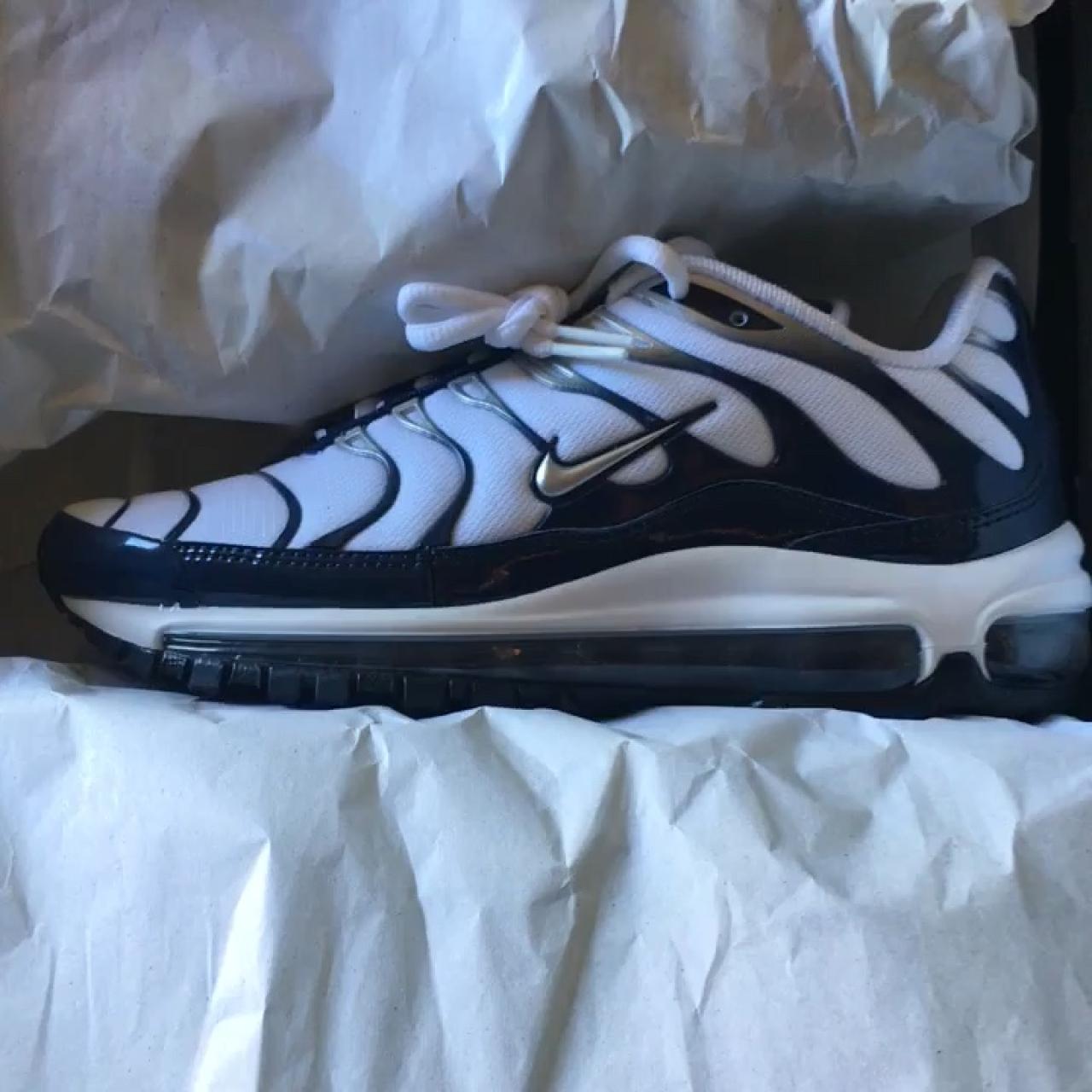 a04f54863b7e06 Nike Air Max 97 plus Silver Shark Size 5.5 in Men. Size 7 - Depop